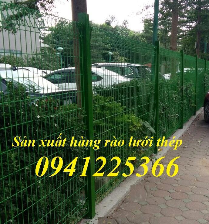 Hàng rào lưới thép sơn tĩnh điện, hàng rào lưới mạ kẽm