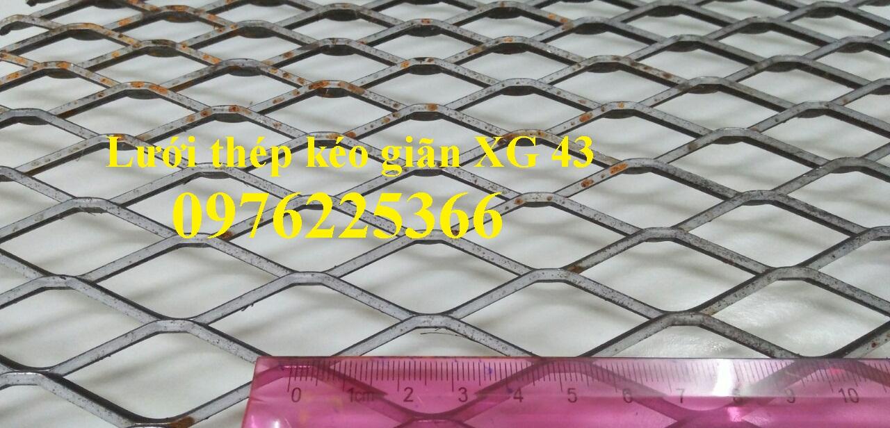 Lưới thép hình thoi XG43 mắt lưới 22x50.8mm
